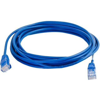 C2G 15ft Cat5e Snagless Unshielded (UTP) Slim Network Patch Cable - Blue