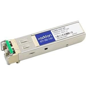 AddOn Brocade E1MG-LHA Compatible TAA Compliant 1000Base-ZX SFP Transceiver (SMF, 1550nm, 70km, LC)
