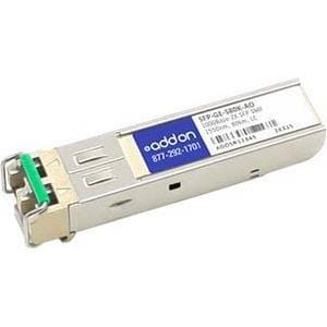 AddOn ZTE SFP-GE-S80K Compatible TAA Compliant 1000Base-ZX SFP Transceiver (SMF, 1550nm, 80km, LC)