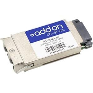 AddOn Cisco WS-G5484 Compatible TAA Compliant 1000Base-SX GBIC Transceiver (MMF, 850nm, 550m, SC)