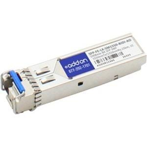 AddOn Huawei SFP-FE-LX-SM1550-BIDI Compatible TAA Compliant 100Base-BX SFP Transceiver (SMF, 1550nmTx-1310nmRx, 15km, LC)