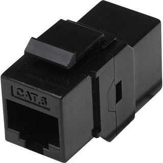 Intellinet Network Solutions Cat6 RJ45 Inline Coupler, Keystone Type, UTP, Black