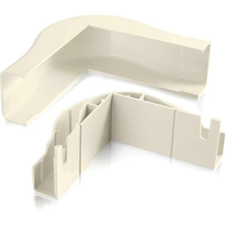 C2G Wiremold Uniduct 2900 Bend Radius Compliant External Elbow - Ivory