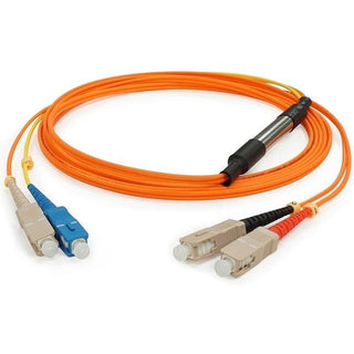 AddOn 3m SC (Male) to SC (Male) Orange OM1 & OS1 Duplex Fiber Mode Conditioning Cable