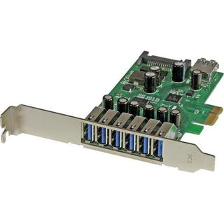 StarTech.com 7 Port PCI Express USB 3.0 Card - Standard and Low-Profile Design