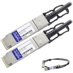 AddOn Dell Force10 CBL-QSFP-40GE-PASS-0.5M Compatible TAA Compliant 40GBase-CU QSFP+ to QSFP+ Direct Attach Cable (Passive Twinax, 0.5m)