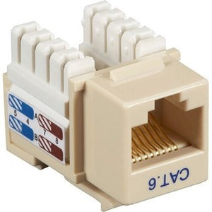 Black Box CAT6 Value Line Keystone Jack, Ivory