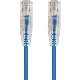 Monoprice SlimRun Cat6 28AWG UTP Ethernet Network Cable, 7ft Blue