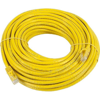 Monoprice FLEXboot Series Cat5e 24AWG UTP Ethernet Network Patch Cable, 75ft Yellow
