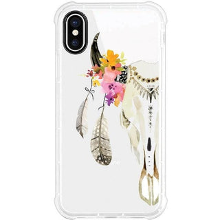 OTM Phone Case, Tough Edge, Feather & Skull