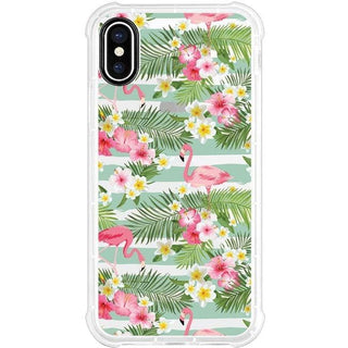 OTM Phone Case, Tough Edge, Flamingo & Flowers