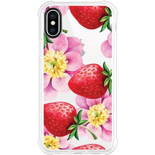 OTM Phone Case, Tough Edge, Strawberry Flowers