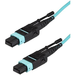 StarTech.com 3m 10 ft MPO - MTP Fiber Optic Cable - Plenum-Rated MTP to MTP Cable - OM3, 40G MPO Cable - Push-Pull-Tab - MPO MTP Cable