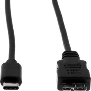 Rocstor Premium USB-C to Micro-B Cable 3ft (1m) - M-M - USB 3.0 - USB Type-C to Micro-USB Cable - USB for External Hard Drive, Tablet, Notebook - 3 ft - 1 Pack - 1 x Type C Male USB - 1 x Type B Male Micro USB - Nickel Plated - Shielding - Black CABLE 1M