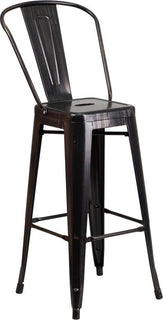 "30"" Yell Metal Outdoor Stool"