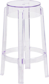 "25.75""H Transparent Stool"