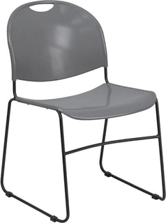 Gray Stack Chair-Black Frame