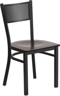 Black Grid Chair-Wal Seat