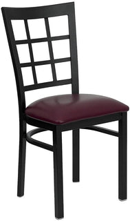 Black Window Chair-Wal Seat