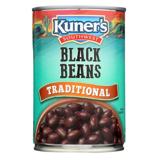Kuner Black Beans - Case Of 12 - 15 Oz.