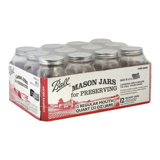 Ball Canning Jar Regular Mouth With Lid - Case Of 1 - 12 Count