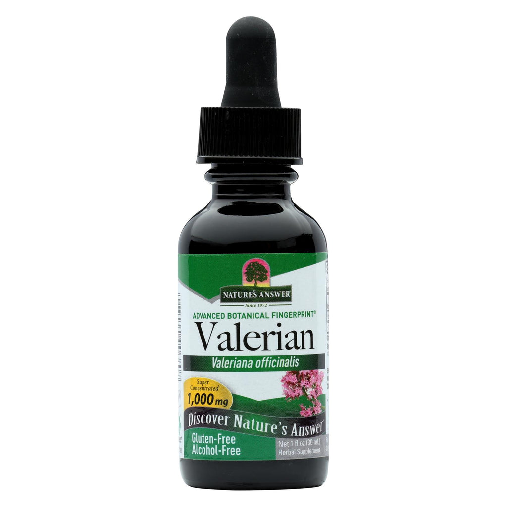 Nature's Answer - Valerian Root Alcohol Free - 1 Fl Oz