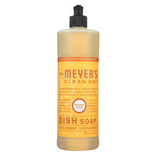 Mrs. Meyer's Clean Day - Liquid Dish Soap - Orange Clove - Case Of 6 - 16 Fl Oz.