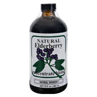 Natural Sources Elderberry Concentrate - 16 Fl Oz