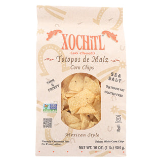 Xochitl Corn Chips - Salted - Case Of 9 - 16 Oz.