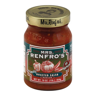 Mrs. Renfro's Fine Foods Salsa Roasted - Case Of 6 - 16 Oz.