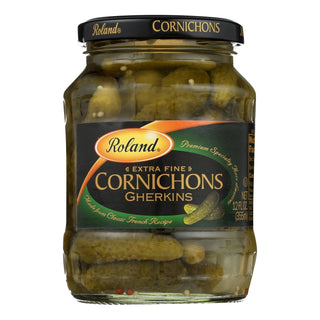 Roland Extra Fine Cornichons Gherkins - Case Of 6 - 12 Oz