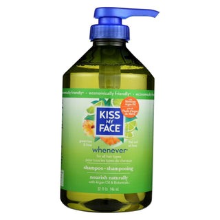 Kiss My Face Whenever Shampoo Green Tea And Lime - 32 Fl Oz