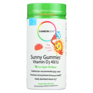 Rainbow Light Vitamin D3 Sunny Gummies Tangy Orange - 400 Iu - 60 Gummies