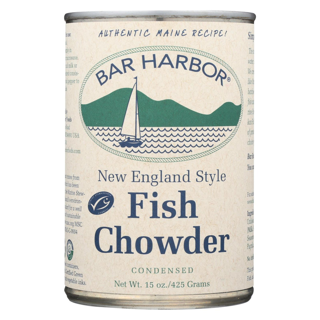 Bar Harbor - All Natural New England Fish Chowder - Case Of 6 - 15 Oz.