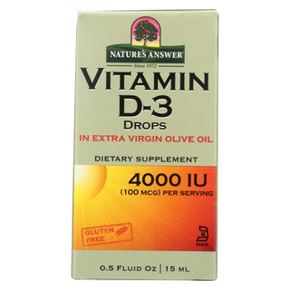 Nature's Answer - Vitamin D-3 Drops - 4000 Iu - 0.5 Fl Oz