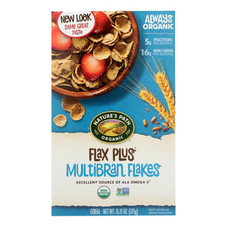 Nature's Path Organic Flax Plus Multi-bran Flakes Cereal - Case Of 12 - 13.25 Oz.