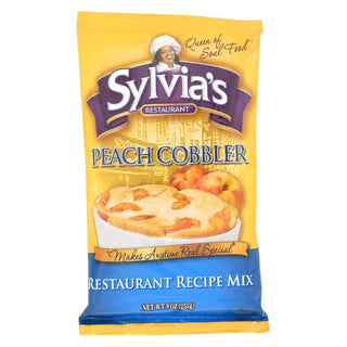 Sylvia's Peach Cobbler Mix - Case Of 9 - 9 Oz.