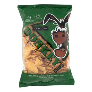 Donkey Chips Tortilla Chips - Unsalted - Case Of 12 - 14 Oz.