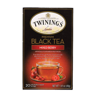 Twining's Tea Black Tea - Mixed Berry - Case Of 6 - 20 Bags