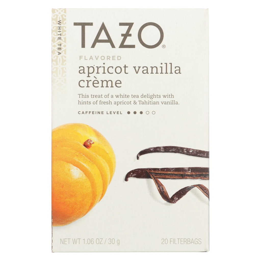 Tazo Tea White Tea - Vanilla Apricot - Case Of 6 - 20 Bag