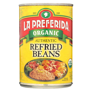 La Preferida Organic Authentic Refried Beans - Case Of 12 - 15 Oz