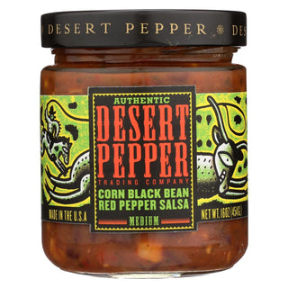 Desert Pepper Trading - Medium Corn Black Bean Red Pepper Salsa - Case Of 6 - 16 Oz.