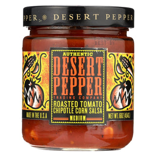 Desert Pepper Trading - Medium Hot Roasted Tomato Chipotle Corn Salsa - Case Of 6 - 16 Oz.