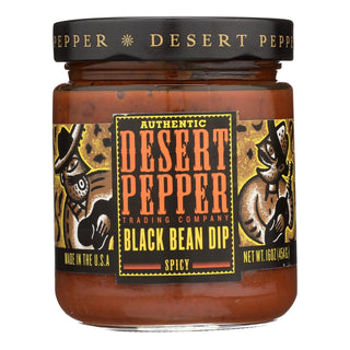 Desert Pepper Trading - Spicy Black Bean Dip - Case Of 6 - 16 Oz.