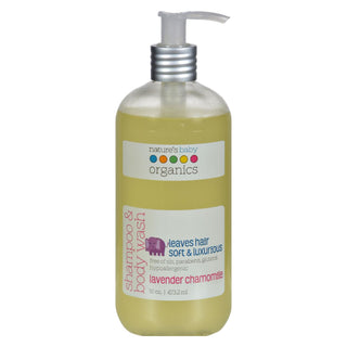 Nature's Baby Organics Shampoo And Body Wash Lavender Chamomile - 16 Fl Oz