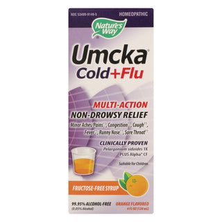 Nature's Way - Umcka Cold And Flu Sugar-free Syrup Orange - 4 Fl Oz