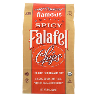 Flamous Falafel Chip - Spicy - Case Of 12 - 8 Oz.