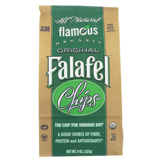 Flamous Falafel Chip - Low Sodium - Case Of 12 - 8 Oz.