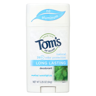 Tom's Of Maine Natural Deodorant Aluminum Free Mine Woodisplayice - 2.25 Oz - Case Of 6