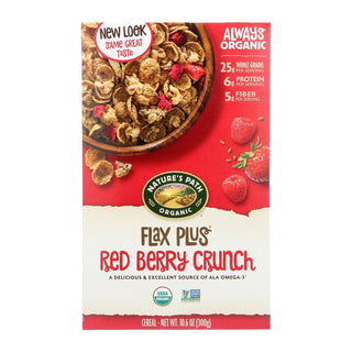 Nature's Path Organic Flax Plus Cereal - Red Berry Crunch - Case Of 12 - 10.6 Oz.